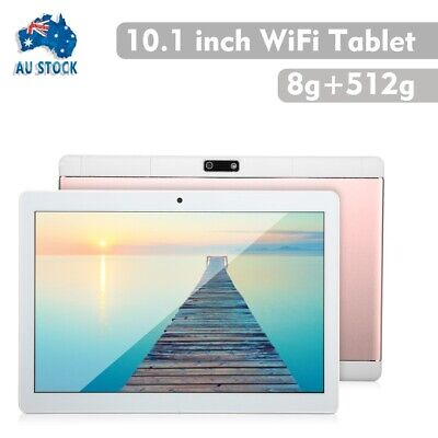 AU97.99 • Buy 10.1 Android 8.1 Blue-tooth Tablet 8+512GB WiFi 1080P Phablet PC Dual Camera