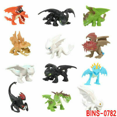 12Pcs/Set How To Train Your Dragon Light Night Fury Toothless Action Figure Toy • 7.99£