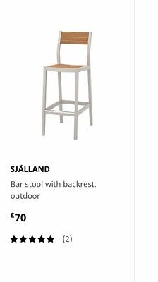Sjalland Bar Stool With Backrest, Outdoor • 46£