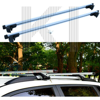 $50.99 • Buy Pair Car Top Roof Rack Cross Bars Luggage Rail Cargo Carrier  For Cargo Luggage