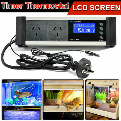 AU30.99 • Buy Reptile Thermostat Digital Aquarium Timer LCD Cooling Heating Temp Controller
