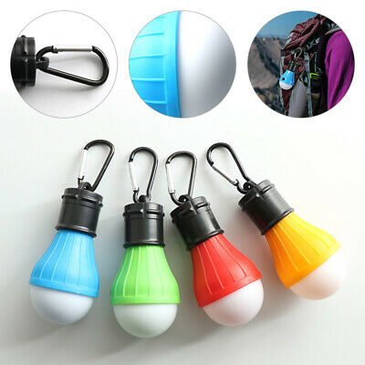 AU17.92 • Buy 4X Outdoor Ultra Bright Camping Tent Light Bulb 3 Gears LED Hanging Lantern Lamp