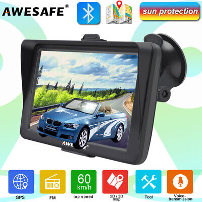 AU83.99 • Buy 7 AWESAFE GPS Navigator For Car Truck Sat Nav Bluetooth And Sunshade AU IGO MAP