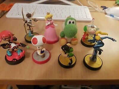 AU100 • Buy 8 X Nintendo Amiibo Lot Mixed Yoshi Peach Toad Pit Little Mac