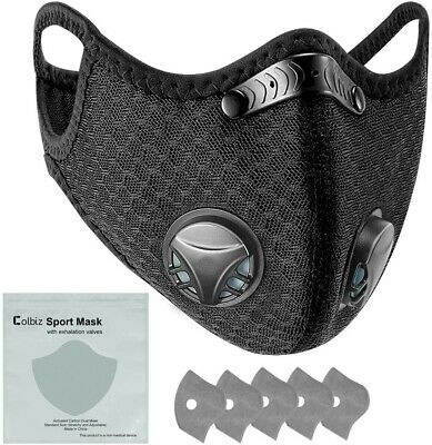 $ CDN19.95 • Buy Reusable Breathable Face Mask With 2 Valves & 5 FREE Filters - Sport Mask