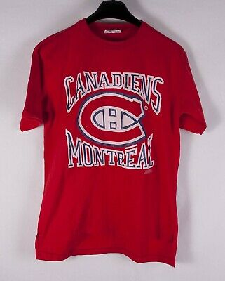 $ CDN32.29 • Buy Montreal Canadiens T Shirt 80s Vintage 50/50 1989 Single Stitch Size S *C1027a2