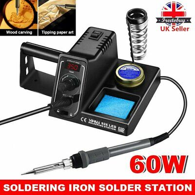 60W Digital LED Professional Soldering Iron Station Stand Adjustable Temperature • 23.90£