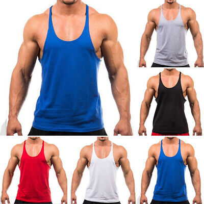 AU10.34 • Buy Mens Sports Fitness Gym Tee Muscle Vest Singlet Y-Back Bodybuilding Tank Tops