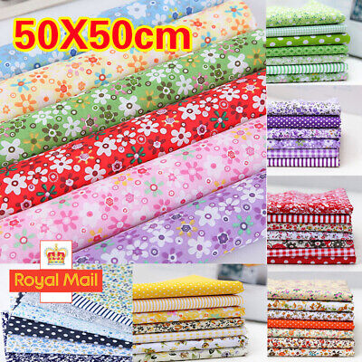 £6.99 • Buy 7PC Mixed Cotton Fabric Material Sewing Value Bundle Scraps Offcuts Quilting