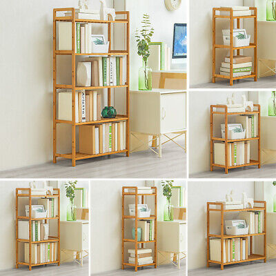3/4/5 Tier Wooden Bookshelf Storage Rack Plant Stand Display Shelf Free Standing • 16.95£