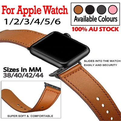 AU10.69 • Buy For Apple Watch Band Leather Strap IWatch Series 6 5 4 3 38 40 42 44mm AU STOCK