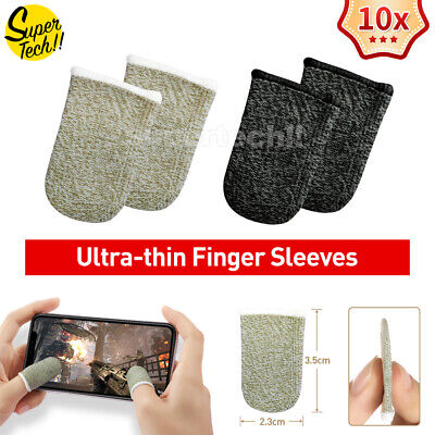 AU7.99 • Buy 10 Pcs Mobile Finger Sleeve Touch Screen Game Controller Sweatproof Gloves