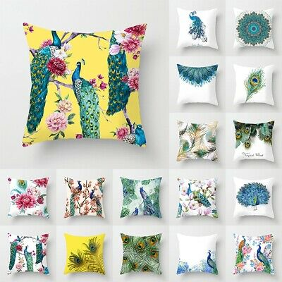 18  Nordic Peacock Pillow Case Sofa Bedroom Home Decor Throw Cushion Cover New • 2.99£