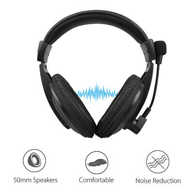 3.5mm Wired Gaming Headset Headphones W/ Mic For Gamer Skype PC Computer Laptop • 8.39£