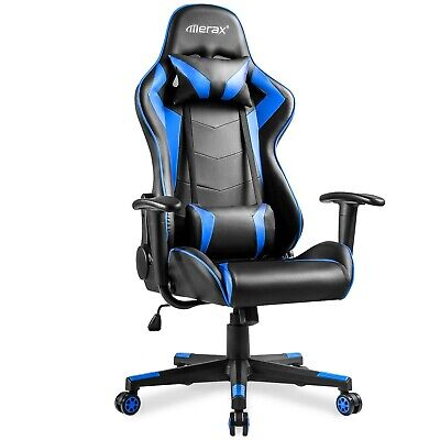 AU240.46 • Buy Merax High-back Racing Style Computer Gaming Chair Ergonomic Office Chair (Blue)