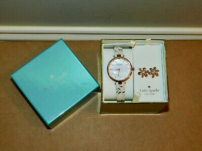 $ CDN152.85 • Buy New Kate Spade Holland Floral Leather Rose Gold Watch&earring Gift Set Ksw1422
