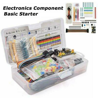 Electronic Component Starter Kit Wires Breadboard Buzzer Resistor E4C7 • 10.29£