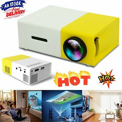 AU61.95 • Buy Mini Pocket YG300 Yellow 3D Projector LED HD 1080p Home Theater Cinema USB HDHG