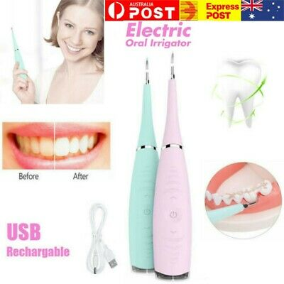 AU18.79 • Buy Electric Tooth Cleaner Cleaning Kit Teeth Stain Dental Ultrasonic Oral Irrigator