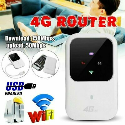 AU42.99 • Buy Portable 4G LTE WIFI Router 150Mbps Mobile Broadband Wifi Hotspot SIM Unlocked