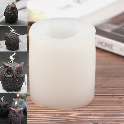 3D Owl Candle Silicone Making DIY Handmade Resin Molds Animal Plaster Wax MouKIL • 5.03£