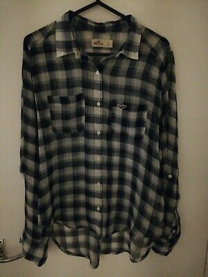 £4 • Buy Hollister Blue Checked Shirt Size S