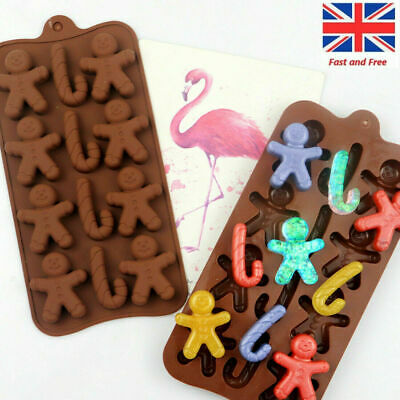 Silicone Christmas Gingerbread Man Silicone Fondant Mould Chocolate Cookies UK • 3.18£