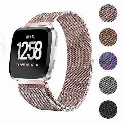 $ CDN10.70 • Buy For Fitbit Versa 2 Milanese Magnetic Loop Strap Stainless Steel Wrist Band Men