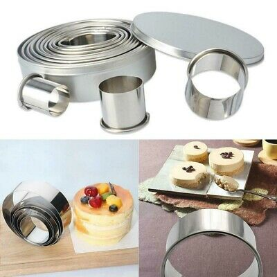 AU14.69 • Buy 14x Baking Cake Cutter Cookie Stainless Steel Round Fondant Biscuit Mold Pastry