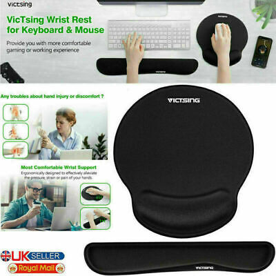 Keyboard Wrist Rest Pad And Mouse Pad With Gel Wrist Support For Computer Laptop • 11.42£