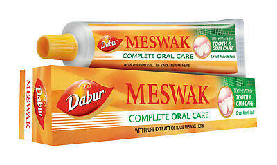 5 X  Dabur Meswak Tooth Paste 200gm With Pure Extract Of Rare Miswak Herbs 100gm • 17.99£