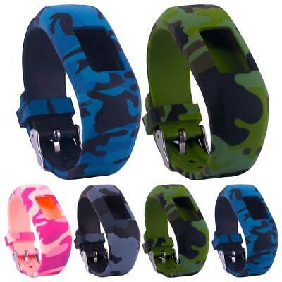 AU15.99 • Buy For Garmin Vivofit 3/JR/JR 2 Camouflage Silicone Replacement Watches Band Strap