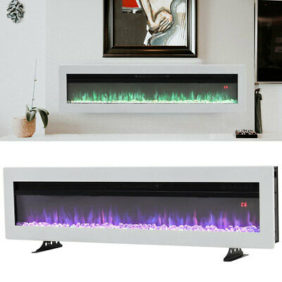 £189.95 • Buy LED Flame Crystal Fire 40 In Inset Electric Fireplace Wall Mounted, Freestanding