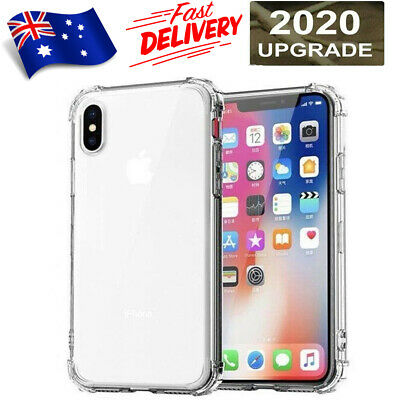 AU2.95 • Buy Clear Shockproof Silicone Back Case Cover For IPhone 11 Pro XS MAX X XR 7 8 Plus