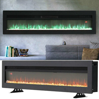 £279.95 • Buy Electric 50 60  Insert/Wall Mounted LED Fireplace Wall Inset Into Fire Freestand