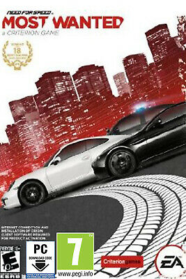 AU8.39 • Buy Need For Speed Most Wanted - PC EA Origin Game Digital Code - Worldwide