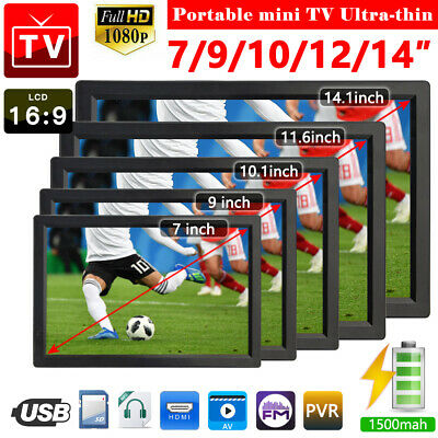 1080P HD Portable Digital TV 12V For  DVB-T2 (7inch TO 14inch ) Player • 70.99£