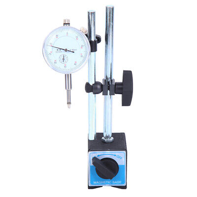 Dial Test Indicator Stand Gauge & Magnetic Base 0.01mm Precision Clock 0-10mm • 14.05£
