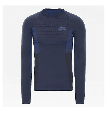 The North Face Men's Sport Active Long Sleeve Crew Base Layer Navy -Small/Medium • 54.99£