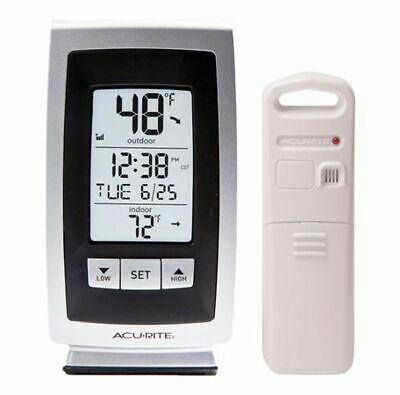 $14.99 • Buy AcuRite Wireless Thermometer Indoor & Outdoor Temperature W/ Self Setting Clock