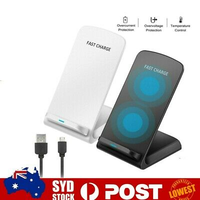 AU15.62 • Buy 10W Fast Qi Wireless Charger Dock Stand For IPhone 11 XS 8 XR Samsung S20 S10 AU