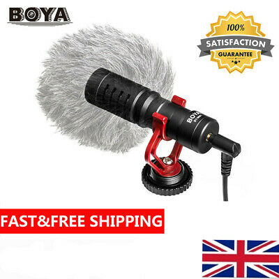 BOYA BY-MM1 3.5mm Cardioid Microphone Mic For Canon Nikon Sony IPhone Samsung UK • 18.88£
