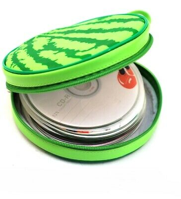 Watermelon Print 24 Capacity CD DVD Disk Round Wallet Case Holder Media Case New • 4.89£