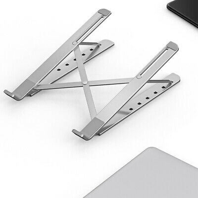 AU23.99 • Buy Adjustable Aluminum Laptop Stand For Desk Portable Laptop Riser Laptop Holder