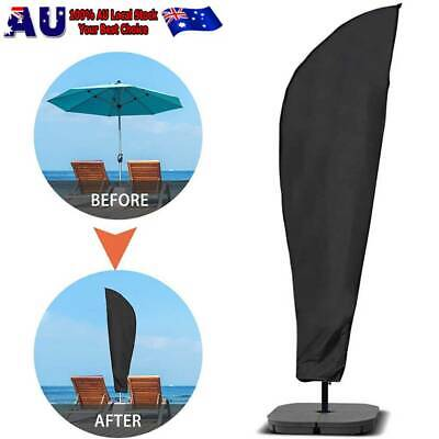 AU19.99 • Buy 205/265/280cm Banana Umbrella Cover Deluxe Cantilever Parasol Zipped GardenPatio