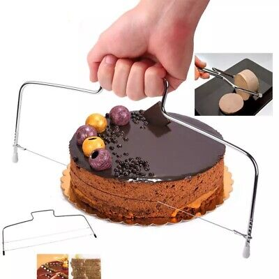 £1.99 • Buy Adjustable Wire Cake Slicer Cutter Leveller Decorating Bread Wire Decor Tool