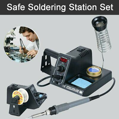 60W Digital Soldering Iron Station Rework Kit Variable Stand Temperature LED UK • 23.91£