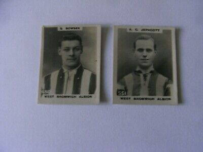 2 Different Godfrey Phillips Pinnace Photo Cards   West Bromich Albion   1922 • 4.99£