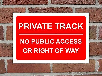 Private Track No Public Access Or Right Of Way Correx Safety Sign 300mm X 200mm • 5.49£