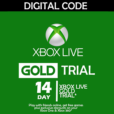 $ CDN3.23 • Buy Xbox Live 14 Day (2 Week) Gold Trial Digital Code (global) Instant Delivery